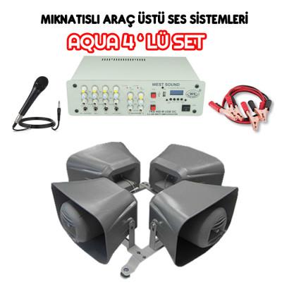 Dmm Aqua 4lü Set Mıknatıslı Araç Ses Sistemi (16 CM)