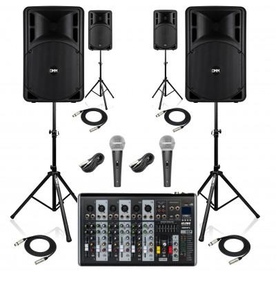DMM Okul Ses Sistemi Paket-6 Okul Tören Ses Sistemi Seti(AKTİF SİSTEM)
