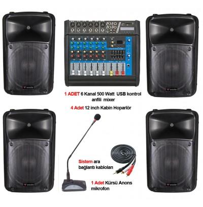 Tiyatro salonu ses sistemi paket 2