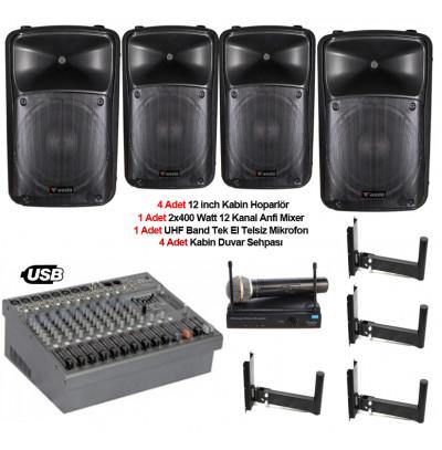 Tiyatro salonu ses sistemi paket 4