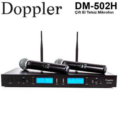 Doppler Dm 502h  Çift El Telsiz Mikrofon Seti