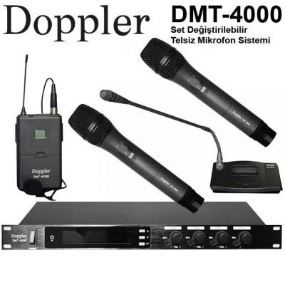 Doppler Dmt4000 Kablosuz Mikrofon Seti 4Lü