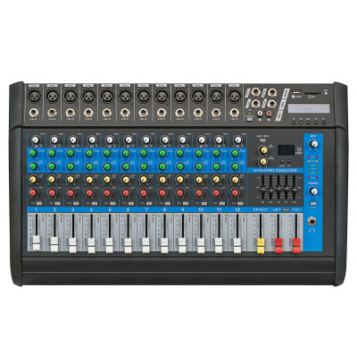 Globe Acoustic Gpm512 - 12 Kanal Power Mixer 2x250 Watt