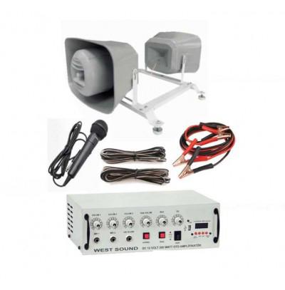 Araç üstü mıknatıslı ses sistemi 2 Hoparlör  (20 CM)