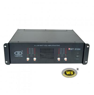 West Sound MT2204 Stereo Güç Amfilikatörü Trafolu 4 Kanal 4x200W