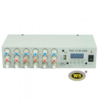 West Sound TKS12M USB Araç Üstü Ses Sistemi Amfisi