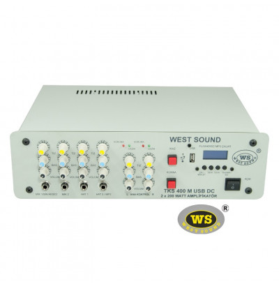 West Sound TKS400M USB Seçim Arabası Amfisi