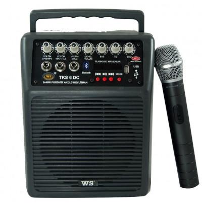 West Sound TKS6 DC Portatif Şarjlı Amplifikatör