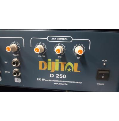 Dijital VT250 TR Amfi Mikser 250 Watt